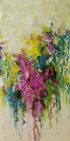 Original Oil Painting- Spring Time- Modern, Contemporary,Abstract 10x20