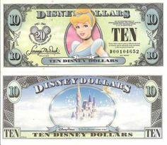 "2007 $10 ""Cinderella"" Disney Dollar"