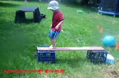 such a simple outdoor activity - obstacle course from everyday things!