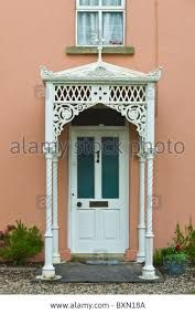 Image result for victorian georgian porch door canopy pediment & ironwork canopies - Google Search | Porticos Covered Entries ...