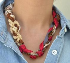 DIY Jewelry DIY Necklace  : DIY Chunky Necklaces Without Hurting Your Wallet
