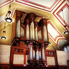 Preview: The glorious Opus 91 pipe organ is part of the newly-renovated Alumni Hall, which will reopen and be rededicated tonight at the annual IU Alumni Leadership Conference.