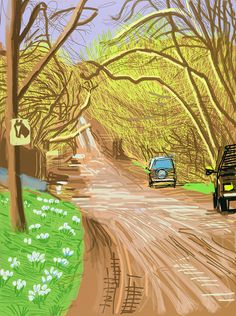 David Hockney | The Arrival of Spring in Woldgate, East Yorkshire in 2011 (twenty eleven) - 5 March 2011 (2011), Available for Sale | Artsy