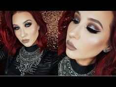 Halo Smokey Eye with Glitter Liner | Jaclyn Hill - YouTube