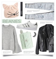 """""""Bad Hair Day: Beanies"""" by marina-volaric ❤ liked on Polyvore featuring Abercrombie & Fitch, Karl Lagerfeld, MANGO, adidas Originals, Chanel, NARS Cosmetics and beanies"""