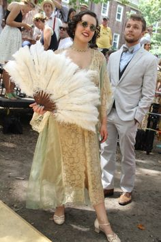 On the grounds ofGovernors Island's Jazz Age Lawn Party
