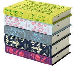 Penguin classics hardcovers designed by Coralie Bickford-Smith. E-readers can't compete.