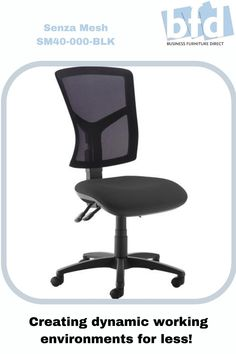 Comfort, reliability and affordability are the key attributes of the Senza operators chair with its curvaceous profile and vast array of options that deliver style as well as substance. Equipped with ergonomic features, a high back, extra high back and mesh back options, this operators chair easily provides the comfort needed for a long day at work. Business Furniture, Home Office Furniture, Mesh Chair, Furniture Direct, Back Seat, Chair Fabric, Wheels, Arms, Chairs
