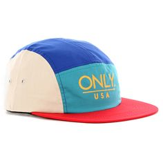 Only Ny Usa 5-Panel Cap - Royal/ivory