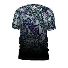 #blueflora by #and&and, #citrusreport, #alloverprint, #teeshirt, #tee, #tshirt, #design, #texture, #fade, #blue, #flower, #flowers, #@The Citrus Report