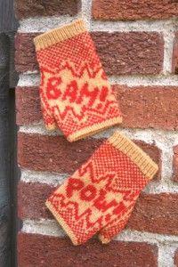 BAM POW fingerless mittens