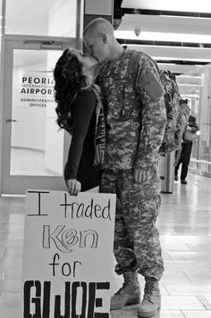 Military wedding picture, adorable