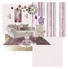 """moodboard.5"" by squirreldaria on Polyvore featuring interior, interiors, interior design, home, home decor, interior decorating, Graham & Brown, Sarreid, Safavieh and Lenox"