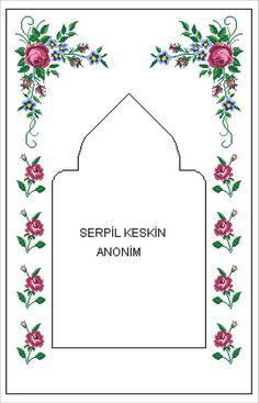 Flower Embroidery Designs, Brazilian Embroidery, Prayer Rug, Diy And Crafts, Cross Stitch, Frame, Flowers, Handmade, Cross Stitch Rose