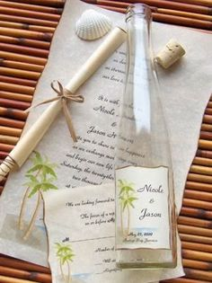 Beach Wedding Invitations Ideas | http://simpleweddingstuff.blogspot.com/2014/01/beach-wedding-invitations-ideas.html