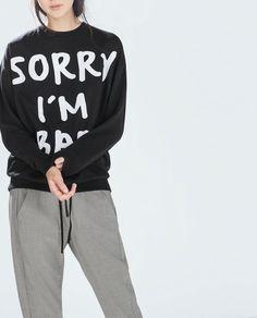zara bad sweatshirt