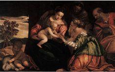 Matrimonio mistico di santa Caterina. 1555. Collezione privata