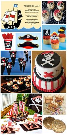 More great ideas for a Pirate Theme Party pirate-theme-birthday-party