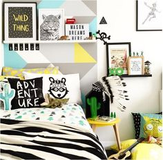 Colorful decorations for your children's room #kidsroom #kidsbedroom #bedroomdecor