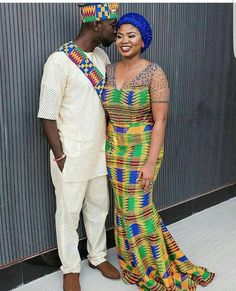 Couple Goals: Check Out These Stylish His & Hers Matching Ankara Styles For Slaying Couples - Nigerian Wedding African Attire, African Wear, African Women, African Outfits, African Clothes, Star Fashion, Trendy Fashion, High Fashion, Women's Fashion