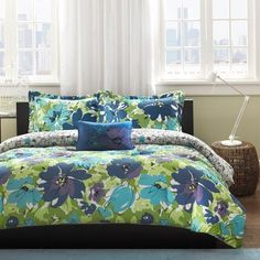 Home Essence Apartment Cynthia Bedding Comforter Set, Blue - Walmart.com