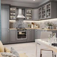 creative grey kitchen cabinet ideas for your kitchen 39 Design Blog, Set Design, Design Ideas, Grey Kitchens, Cool Kitchens, Ikea Hacks, Kitchen Sets, Kitchen Decor, Grey Kitchen Designs
