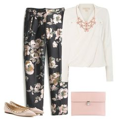 """""""outfit 3094"""" by natalyag ❤ liked on Polyvore featuring J.Crew, Michael Kors, Alexander McQueen and Valentino"""