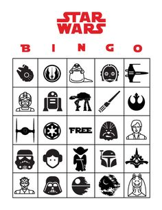 Free Printable Star Wars Bingo | Star Wars activities for kids