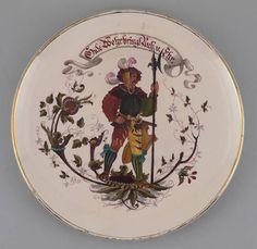 Wandteller Recke/ Ritter Historismus 6945116