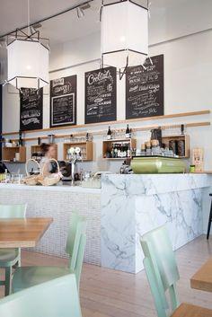 Coffee shop corners.