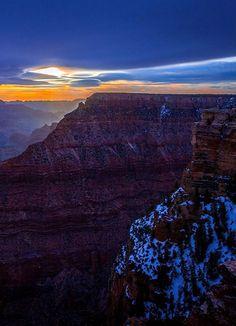Winter Sunset.. Grand Canyon, Arizona, USA   Pat Kofahl Photography