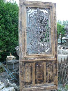 Antieke Voordeur - Geëtst glas - Collection - Benko oude antieke bouwmaterialen