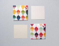 2 Mini Japanese Envelopes  Blank Cards Original Handmade Paper Goods  by UnmuDesign  (Japanese Designer)