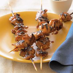 Chicken Yakitori ~ love these extra-tasty chicken skewers, a version of a popular Japanese street food. The sauce also works well on pork, fish, or beef.
