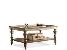 Shop+for+Riverside+Rectangular+Coffee+Table,+19902,+and+other+Living+Room+Coffee+Tables+at+Hampton+House+Furniture+in+Washington,+MI.+Constructed+Of+Poplar+Solid+And+Walnut+Veneer.+Framed+Tray-Top+Has+An+Etched+Glass+Insert.+Fixed+Bottom+Shelf.