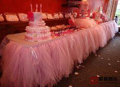 Wedding Party Tulle Tutu Table Skirt Birthday Shower Xmas Bouquet Decoration