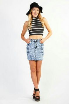 Street Wise Denim Skirt - Shop now at www.aboutagirl.com 84cad02e9