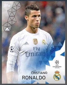 Cristiano Renauldo Real Madrid (UEFA Champions League) Base Card 2016 Topps KICK