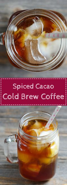 Spiced Cacao Cold Brew Coffee on myheartbeets.com