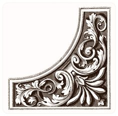Like my father made them out of wood. Decoupage, Pewter Art, Image Digital, Metal Embossing, Carving Designs, Borders And Frames, Filigree Design, Metal Crafts, Wooden Crafts