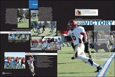 Partial cutout Yearbook Layouts, Yearbooks, News Design, Victorious, Baseball Cards, Yearbook Spreads