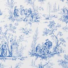 Napkin, Toile Blue - rentable from lineneffects in MN for $1.50/napkin