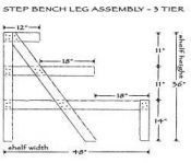 Tiered Garden Display and Step Benches - Wood Display Products - Step Bench Display and Garden Center Step Bench Display - 6SB318 - Two & Th...