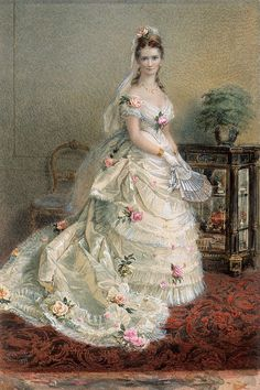 "Chevalier, Nicholas ""Portrait of Julie Farmer"" 1874"