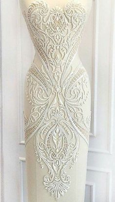 Michael Cinco More Beaded Embroidery, Embroidery Designs, Michael Cinco, Irish Lace, Bridal Lace, Mode Inspiration, Lace Applique, Beautiful Gowns, Bridal Dresses