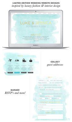 Riley & Grey Wedding Websites Designs: http://www.stylemepretty.com/2015/01/22/riley-grey-wedding-websites-a-discount-2/