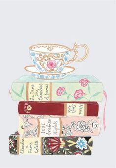Books and tea illustration. Books And Tea, I Love Books, Good Books, Art Et Illustration, Illustrations, Image Girly, Tatoo Art, Tea Art, Book Worms