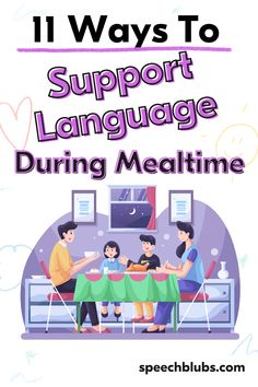 Family meals and gatherings are a great opportunity to model the use of language to babies and toddlers. Get the whole family involved and have a go! A little bit of therapy every day can make a big impact, so why not make mealtimes your daily opportunity for communication. Communication Development, Language Development, Fun Learning, Learning Activities, Activities For Kids, Speech Activities, Language Activities, Children Will Listen, Speech Delay
