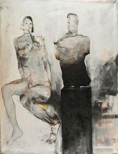 """Saatchi Art Artist Bahram Hajou; Painting, """"Büste"""" #art"""