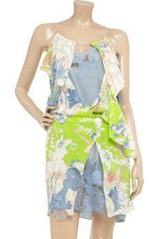 Vanessa Bruno silk and lace dress